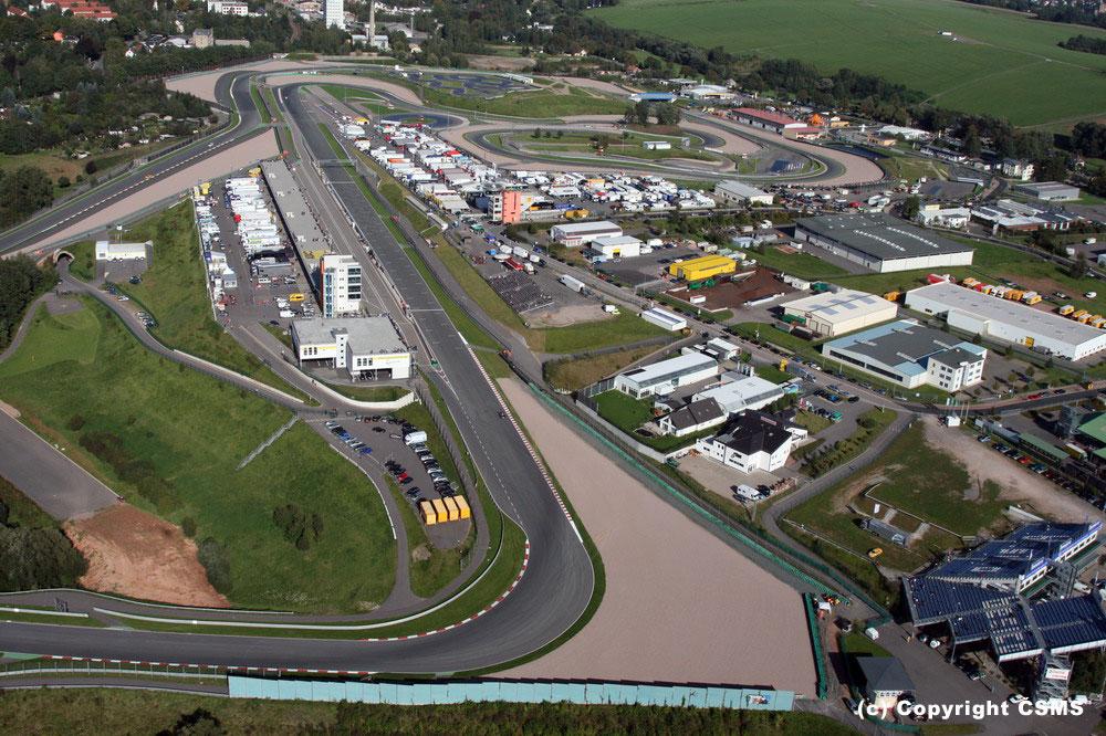 Sachsenring Circuit Map of The Sachsenring Circuit
